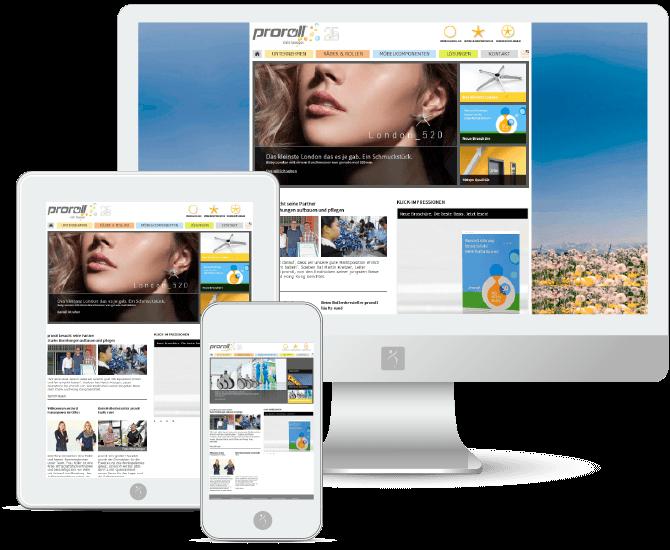 proroll GmbH Internetseite Responsive Referenz